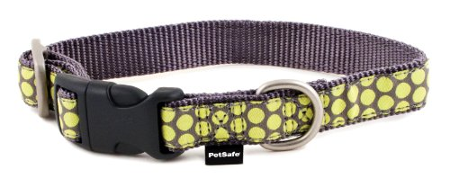 Dog Collars Dotted Ribbon (PetSafe Fido Finery Quick Snap Dog Collar, 1/2-Inch, Petite, Dotted Bliss)