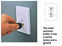 Self-closing Single Screw Outlet Covers 6-pack (White)