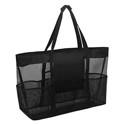 Tanchen Mesh Beach Storage Bag Heavy Duty Large Mesh Duffel