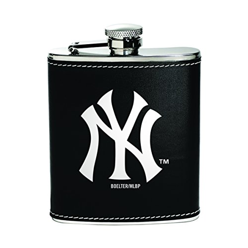 Boelter Brands MLB New York Yankees 459732 Flask, Team Color, One Size (Ny Yankees Legend)