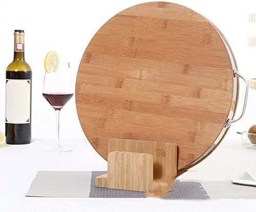 まな板 竹ラウンド野菜まな板アンチ腐食耐久性に優れたラウンドまな板シェフチョッピングブロック LCLJP (Color : 褐色, Size : 38x4)