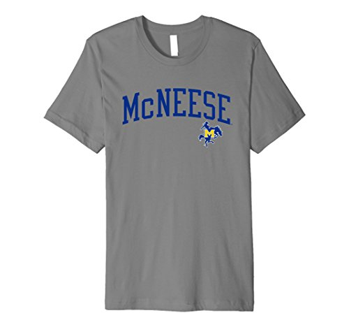 Mcneese State University Basketball (Mens McNeese State Cowboys NCAA T-Shirt 06MCN Large Slate)