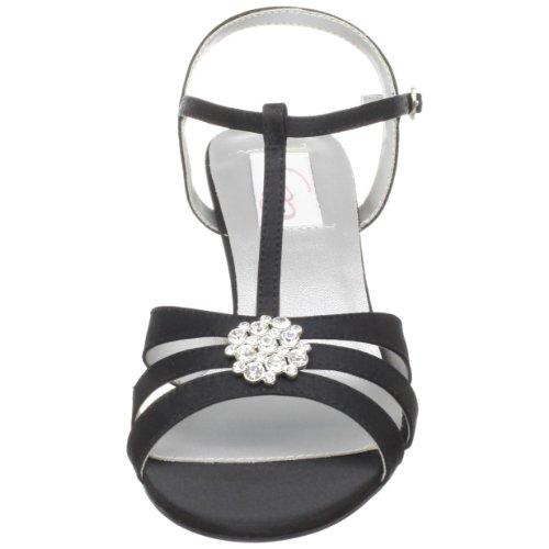 Sandal Satin Black Opal Dyeables Ankle Dyeables Womens Strap Womens 8OS7vW6xq