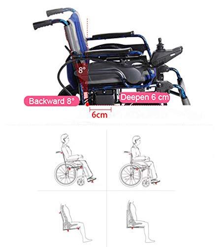 APOAD Sedia A Rotelle Elettrica, Sedia A Rotelle per Disabili Automobile Anziana Sedia A Rotelle Elettrica Pieghevole Sedia A Rotelle Pieghevole,per I