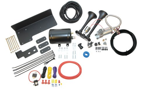 Kleinn Air Horns JeepKit-1 Complete Bolt-On Dual Air Horn Kit for Jeep Wrangler - Black