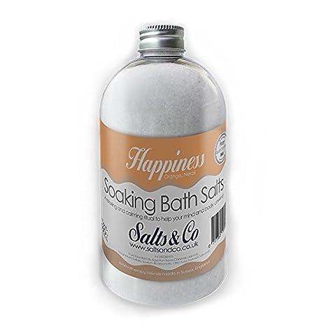 Felicidad Soaking Sales de baño – Aceites Esenciales de naranja y azahar – Sales & Co