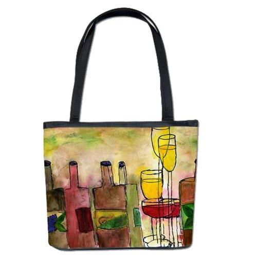 Tuscany Wine Art Bucket Tote Bag (Tuscany) (Wine Tuscany Tote)