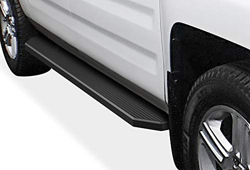 APS iBoard Black Running Boards Style Custom Fit 2006-2014 Honda Ridgeline Crew Cab Pickup 4-Door (Nerf Bars Side Steps) 6in Wide Aluminum