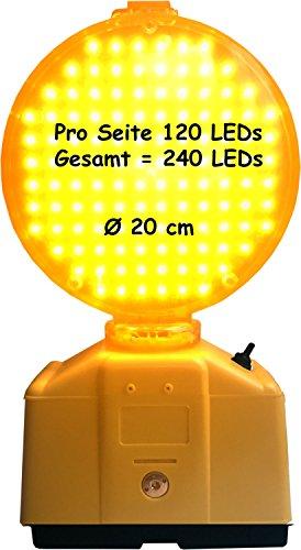 UvV LED Powerblitz - Warnblitzleuchte mit 240 LED inkl. 2 x 6 Volt 7ah Batterien