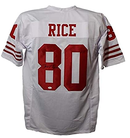 70708517c Jerry Rice Autographed Signed San Francisco 49ers XL White Jersey ...
