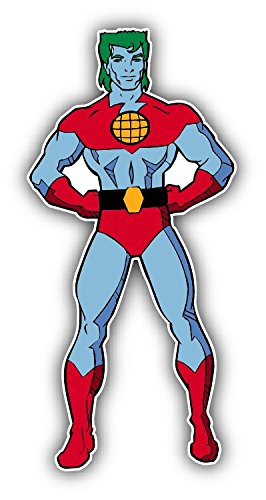 - Captain Planet Cartoon Car Bumper Sticker Decal 3'' x 6''