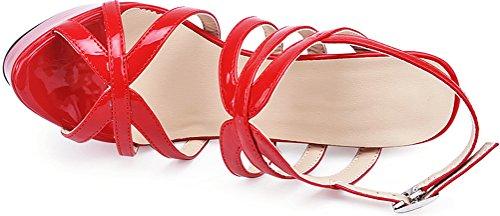 Donna Toe Salabobo Open Pu Rosso Sposa Acciaio Lavoro Da In 1045 Sandalo Inox Comfort Ol pUSwUxAq5