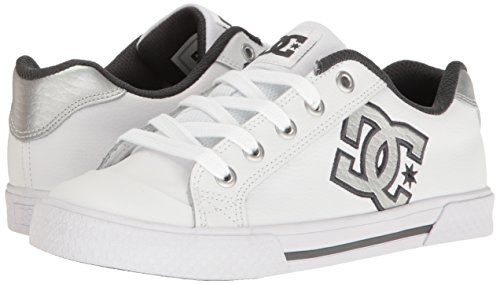 DC Women's Chelsea SE Skate Skateboarding Shoe, White/Grey/Grey, 6 B US