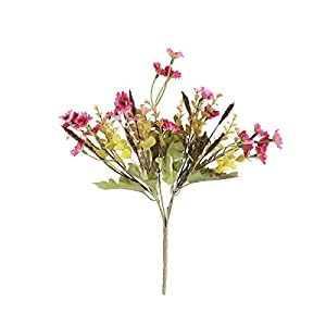 TOYANDONA Artificial Daisy Flowers Bouquet Plant Bundle for Home Office Garden Patio Decoration (Rosy) 4