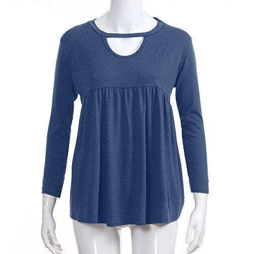 T pour automne bleu courtes les amples manches et hiver femmes à shirts Witsaye 1qSdA1