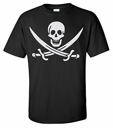 T Calico shirt Shirts Pirate Mort Drapeau Noir Roger Adsylum Jolly Tête Rackhams Jack De HP55wa