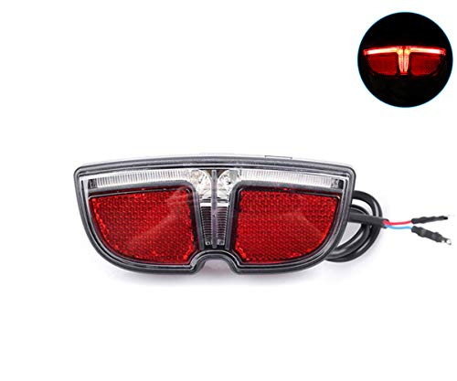 Greenergia eBike 6V LED Tail Light for Bafang Mid Drive Crank Motor Kit 250W 350W 500W 1000W Electric Bike Rear Rack Brake Lamp