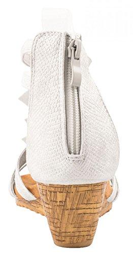 Elara - Tira de tobillo Mujer Weiß