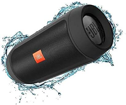 JBL Charge 2 Splashproof Portable Bluetooth Speakers – Black