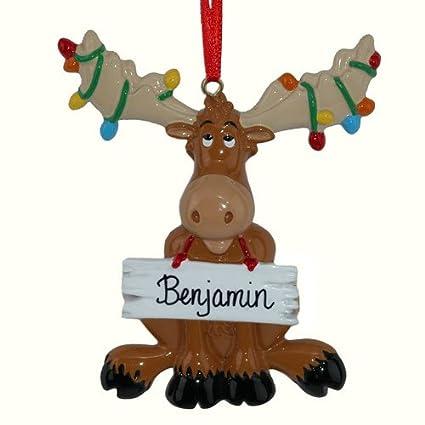 christmas moose personalized christmas tree ornament - Christmas Moose