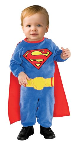 [Superman Romper With Removable Cape Superman, Superman , 1-2 Years] (Cute Baby At Halloween)
