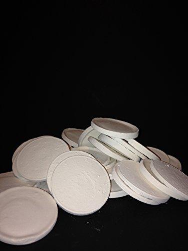 ReefCreators.com 100 Large Ceramic Coral Frag Disks Fired Ceramic Frag Disks