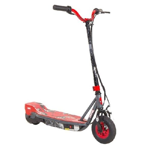 Dynacraft Spiderman 24V SU Electric Scooter, Black/Red/Grey