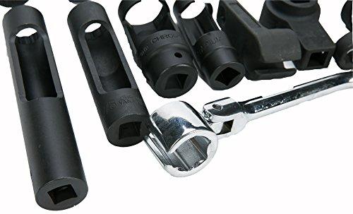 8MILELAKE 21pcs Oxygen Sensor Socket Set Sensor Oil Pressure Sending Unit Socket Set by 8MILELAKE (Image #3)