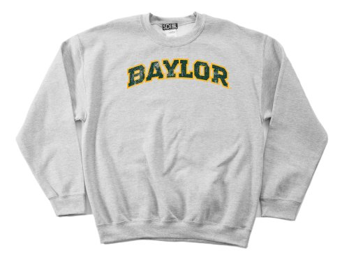 (NCAA Baylor Bears 50/50 Blended 8-Ounce Vintage Arch Crewneck Sweatshirt, Medium, Sport Grey)