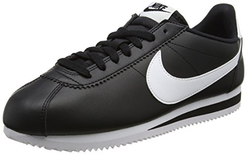 Nike Women's Classic Cortez Leather Black/White/White Casual Shoe 7.5 Women ()