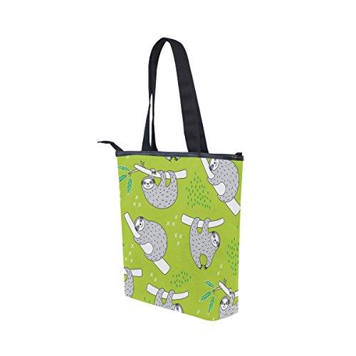 Sloth Cute Tote Womens Shoulder Handbag Doodle Bag MyDaily Canvas qUgvxff4