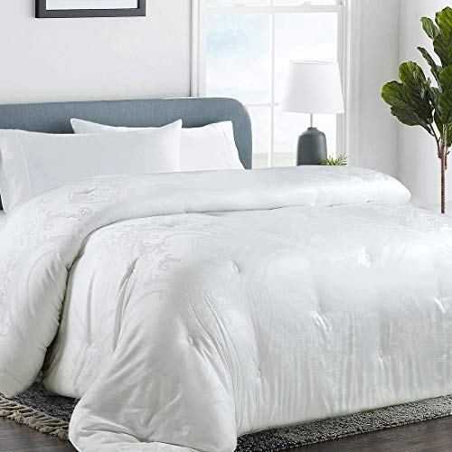 COHOME Full Down Alternative Comforter Duvet Insert Corner Ties,Fluffy Lightweight Warm All Season Soft Reversible Luxurious Hotel Collection (White Modal)
