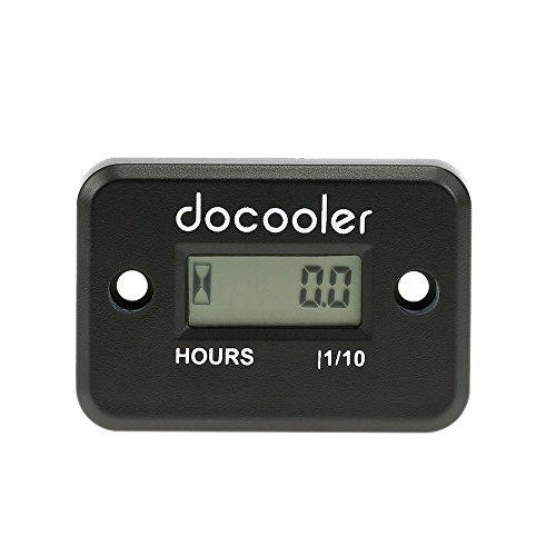 Docooler Inductive Hour Meter for Marine ATV Motorcycle Dirt Ski Waterproof - Black by Docooler