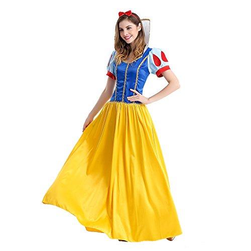 Halloween Costume Snow White Devon Q Rebel Elegant Cute Adult Cosplay Dress Christmas Ball (X-large)