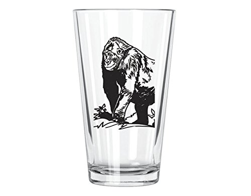Gorilla Pint Glass, Clear