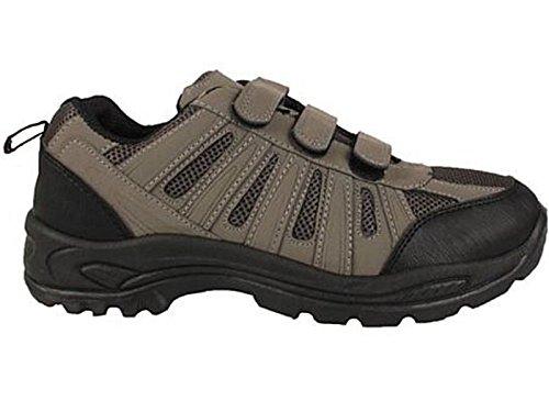 Mens Terrain Hiking Velcro Trail Walking Trekking Style Trainers Shoes Size...
