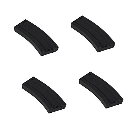 UKARMS Lot of 4 - M4/M16-500 Round Airsoft Hi-Cap Magazine Clip AEG Electric Rifles - METAL by UKARMS