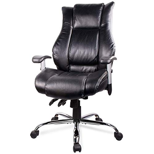 Statesville High Back Office Chair - Ergonomic Computer Desk Executive Task Swivel Chair -...