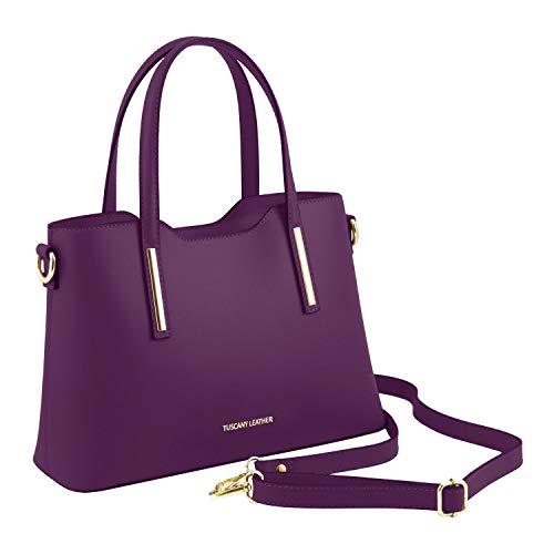 Ruga Olimpia piccola Leather TL141521 pelle in Borsa shopper Viola Viola Misura Tuscany YSCwqZw