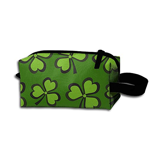 St Patrick's Party Shamrock Fashion Potable Makeup Organizer Bags Large Capacity Pencil Pen Case Cosmetic Bags For Travel Home Toiletry Purse Pouch With Zipper -