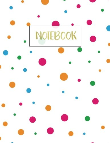 Notebook: Polka Dot Notebook (Composition Book Journal) (8.5 x 11 Large - Dot Polka Journal