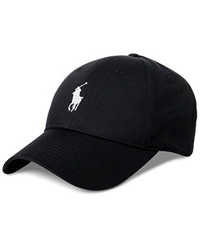 Polo Ralph Lauren Men`s Baseline Performance Cap (Black(5002)/White, One Size)