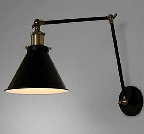 CCWY American idílica campiña de Paraguas negro de hierro apliques de luz minimalista nórdico restaurante salón