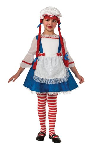 Yarn Babies Girl Ragdoll Costume, Small (Toddler Raggedy Ann Costume)
