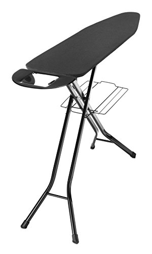 Whitmor Deluxe 4-Leg Ironing Board w/Mesh Top and Iron Rest Black