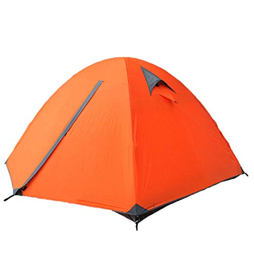 YANKK Lightweight Camping Tent 3 People, Tent 210T Two-layer Tent Waterproof 3-season Dome Tent with Aluminum Tent Pole…