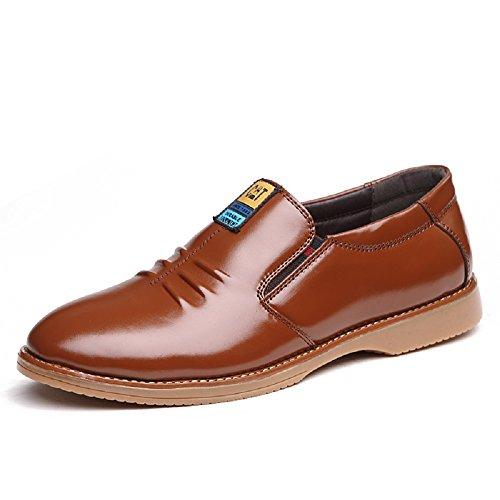 Hexiaji Man Business Shoes Brown Black