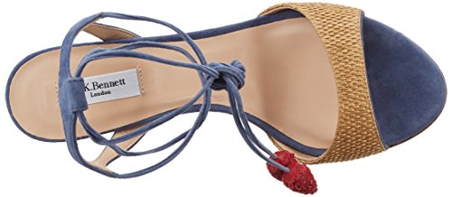 Natural BENNETT Olivia Open Multicolour Sandals 567 LK Blue Toe Women's RFUdqKx0