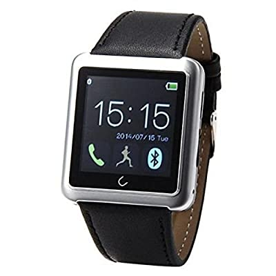 EasySMX Bluetooth Smart Watch WristWatch U Smartwatch for iPhone 6 5 5S 4 4S Samsung S5 S4 Note 4 HTC Android Phone Smartphones (Silver)
