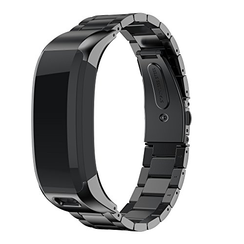 ANCOOL Band Compatible Garmin Vivosmart HR Watch, Accessory Stainless Steel Replacement braceklet Unique high Grade Watch Decor Band Metal Straps for Garmin Vivosmart HR (NOT for Vivosmart HR+)